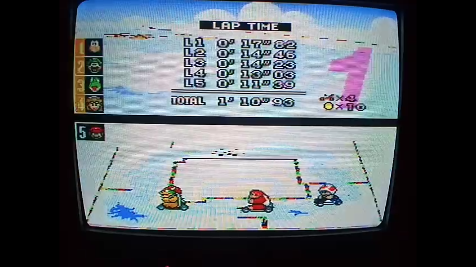 omargeddon: Super Mario Kart: Vanilla Lake 1 [100cc] [Lap Time] (SNES/Super Famicom) 0:00:11.39 points on 2020-04-27 14:11:56