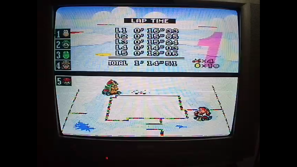 omargeddon: Super Mario Kart: Vanilla Lake 1 [50cc] [Lap Time] (SNES/Super Famicom) 0:00:13.06 points on 2020-04-27 01:05:40