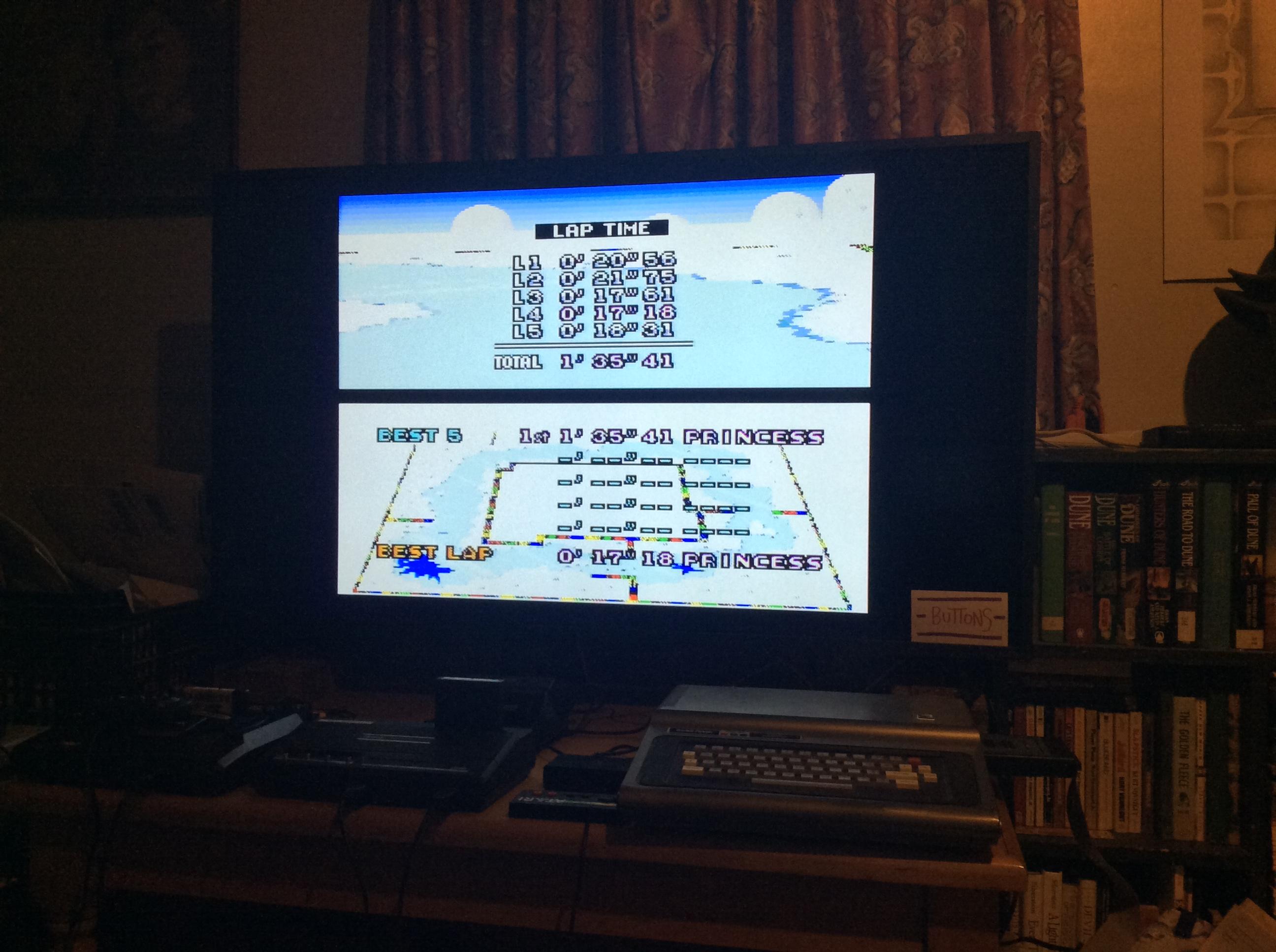 Super Mario Kart: Vanilla Lake 1 [Time Trial] time of 0:01:35.41