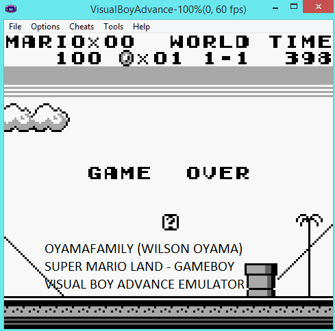 oyamafamily: Super Mario Land [Any Settings/Any Tactics] (Game Boy Emulated) 100 points on 2016-11-13 18:20:45