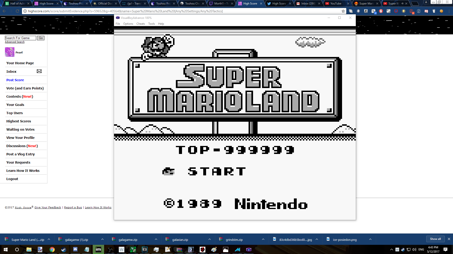 Super Mario Land [Any Settings/Any Tactics] 999,999 points