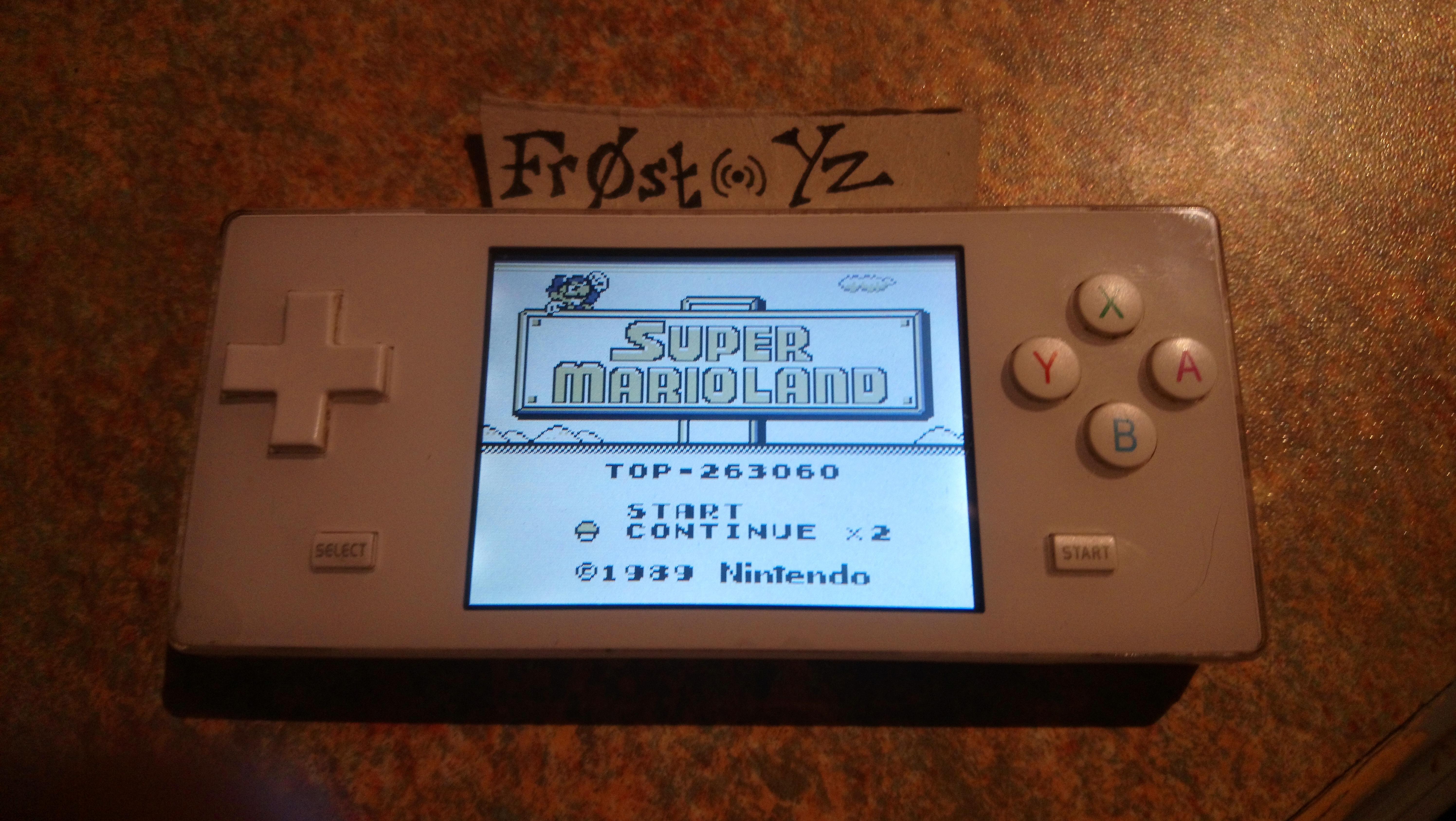 Fr0st: Super Mario Land (Game Boy Emulated) 263,060 points on 2019-01-19 15:53:05