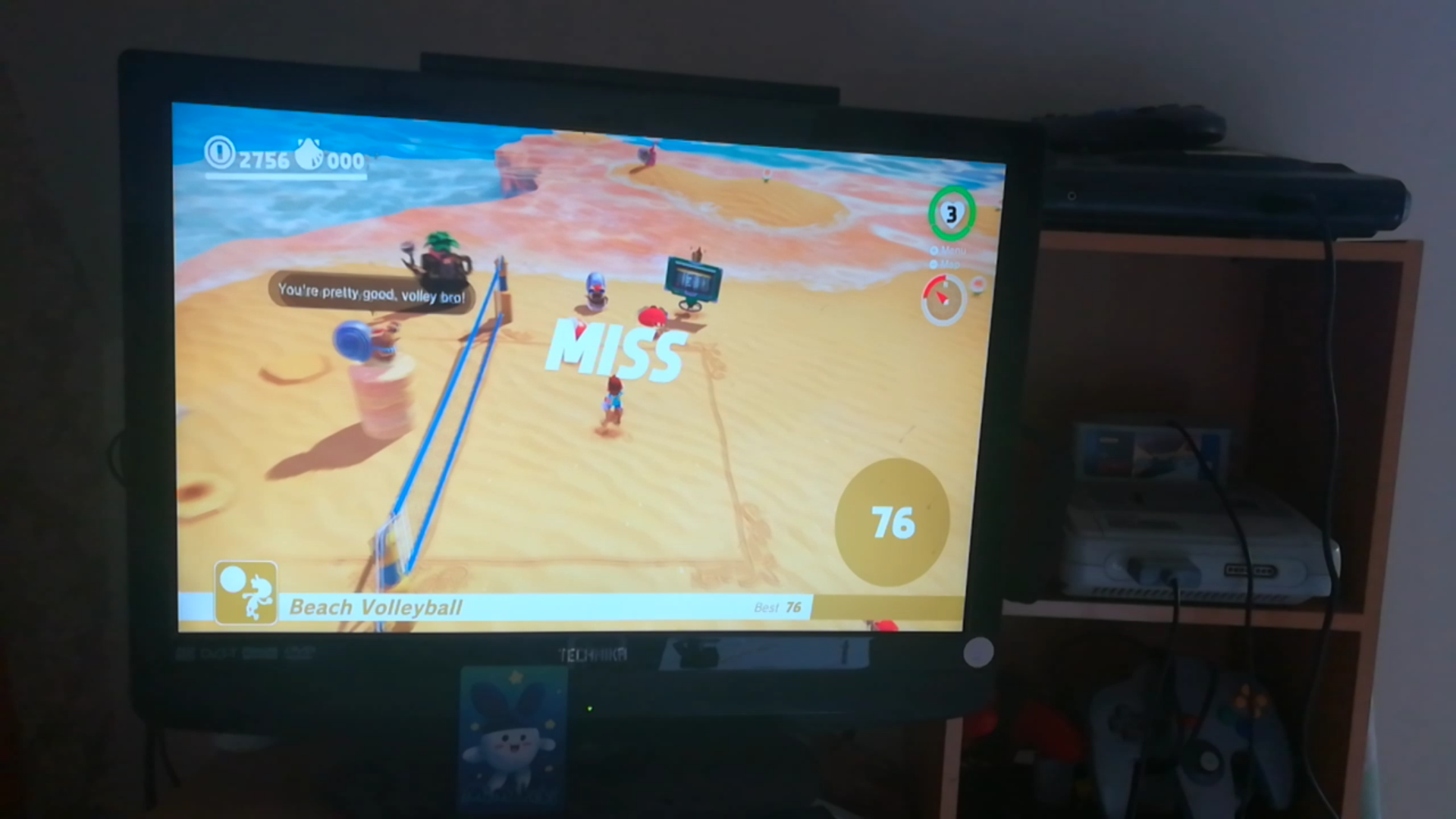 Super Mario Odyssey: Beach Volleyball 76 points