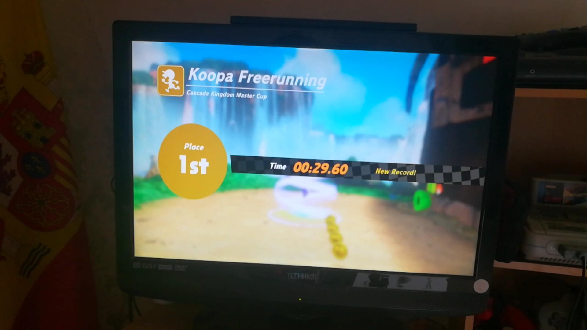 Super Mario Odyssey: Koopa Freerunning: Cascade Kingdom time of 0:00:29.6