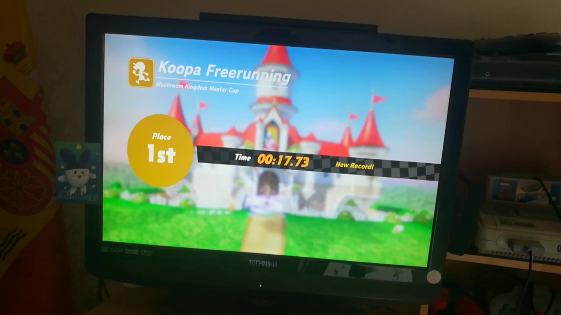 Super Mario Odyssey: Koopa Freerunning: Mushroom Kingdom time of 0:00:17.73