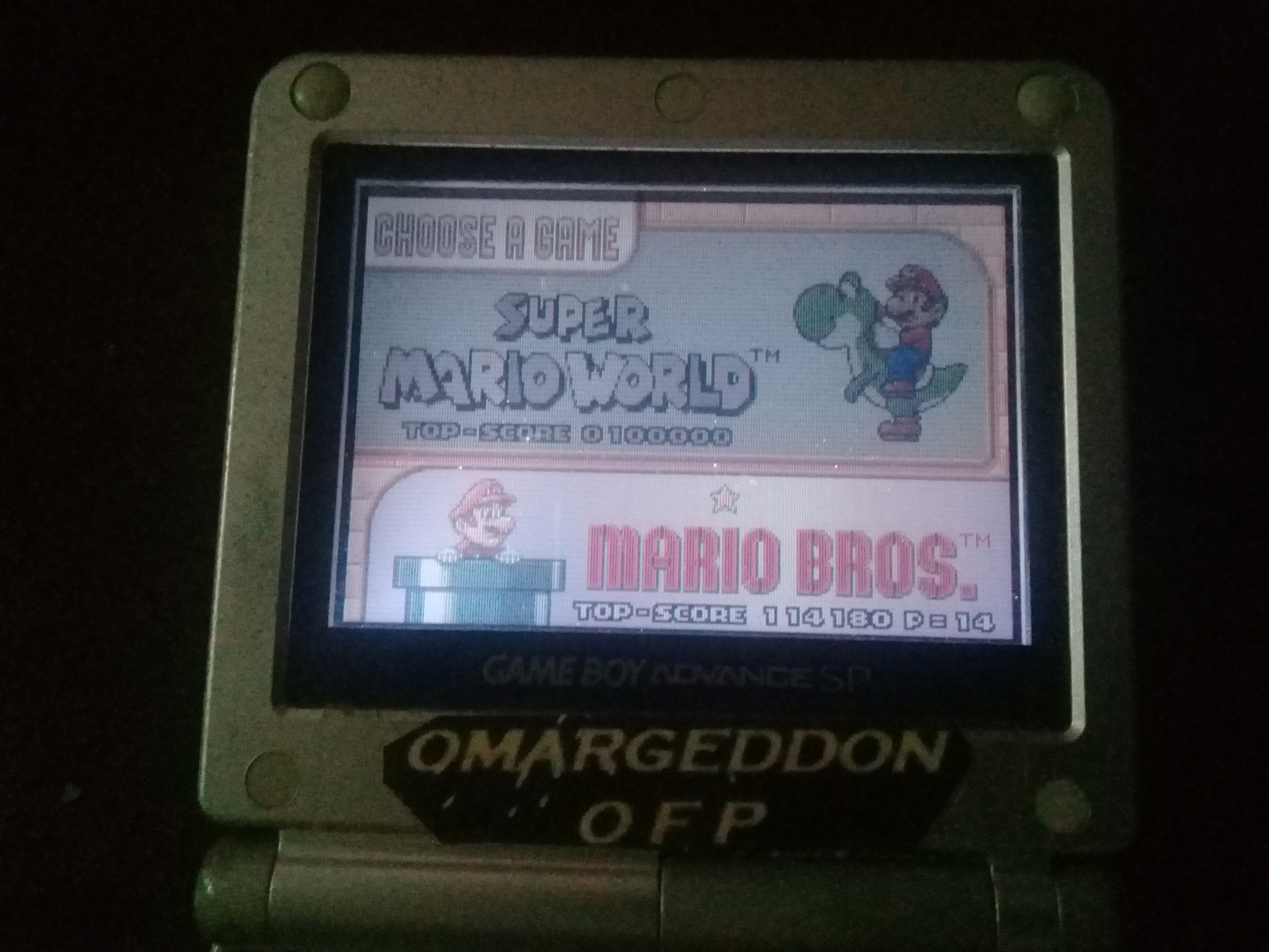 omargeddon: Super Mario World: Mario Bros. (GBA) 114,180 points on 2019-11-03 16:28:04