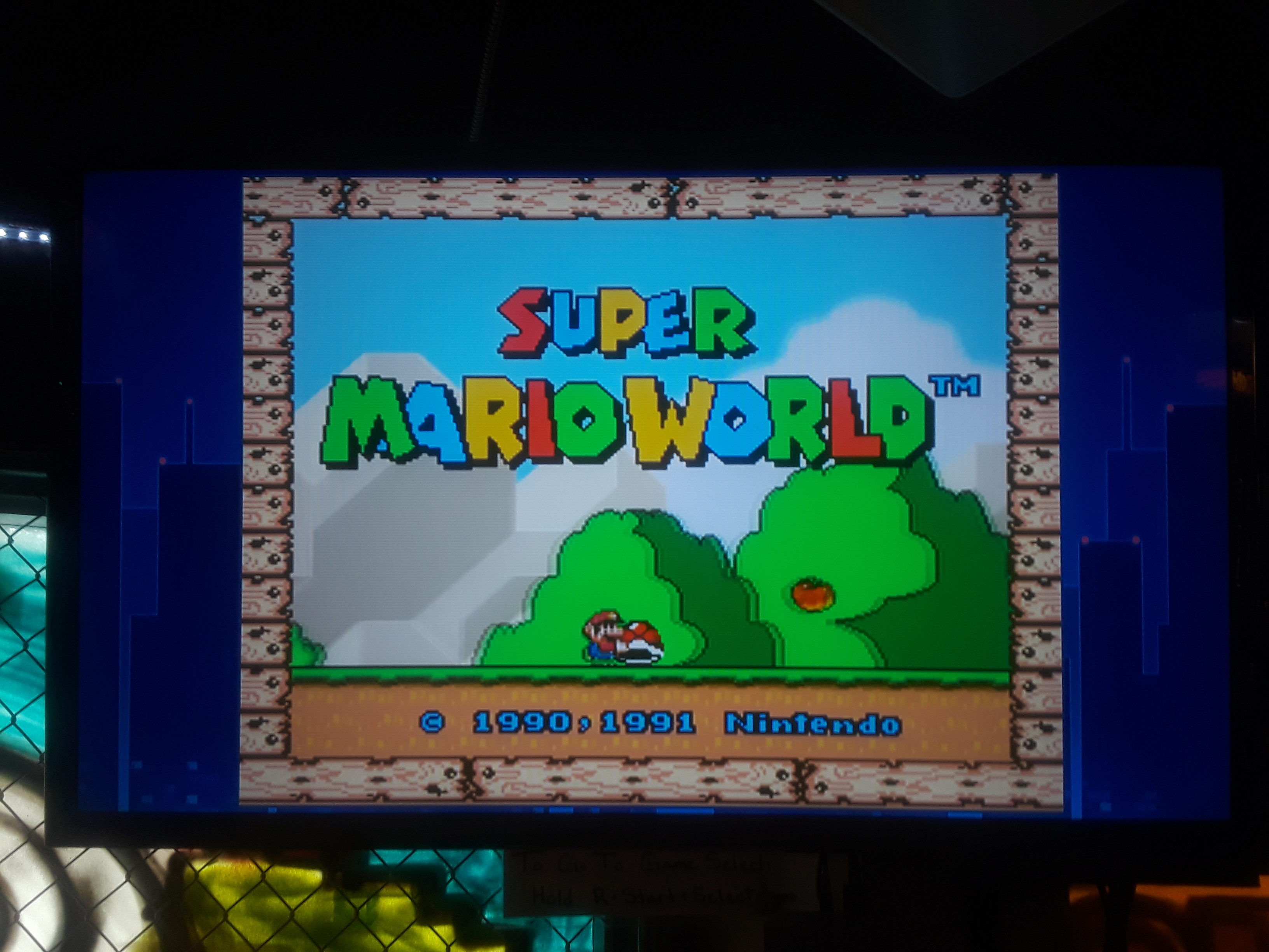 Super Mario World 74,800 points