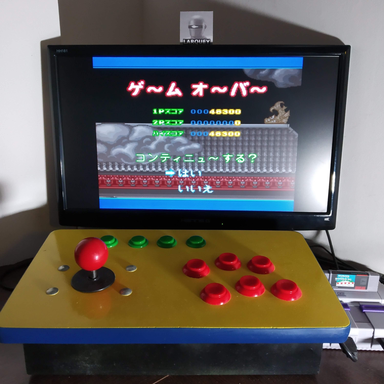 Larquey: Super Ninja-kun (SNES/Super Famicom Emulated) 48,300 points on 2020-08-30 02:04:54