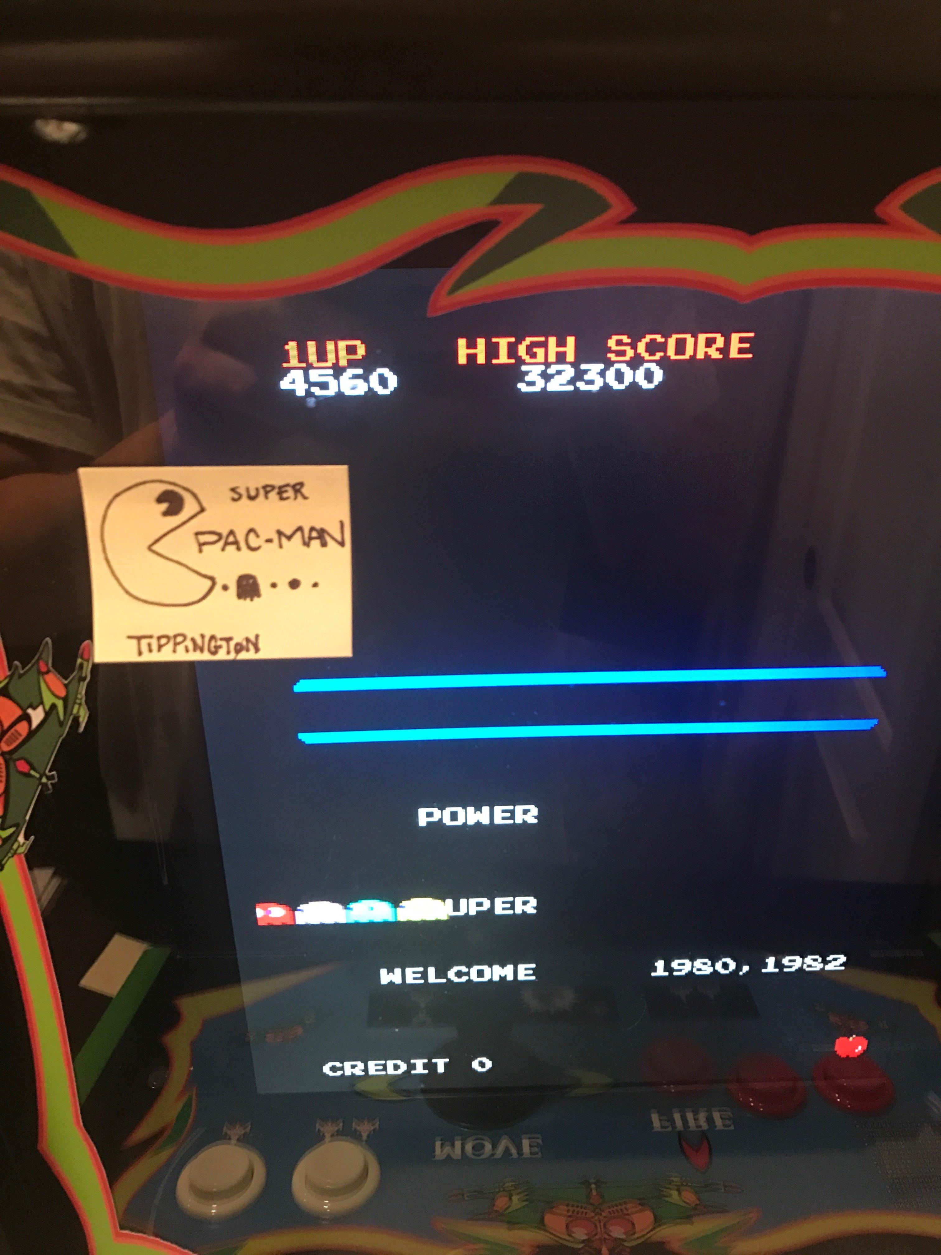 tippington: Super Pac-Man (Arcade Emulated / M.A.M.E.) 32,300 points on 2017-02-04 00:08:42
