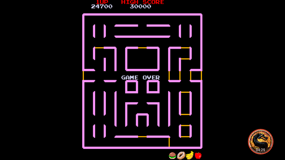 omargeddon: Super Pac-Man (Arcade Emulated / M.A.M.E.) 24,700 points on 2018-12-20 23:58:32
