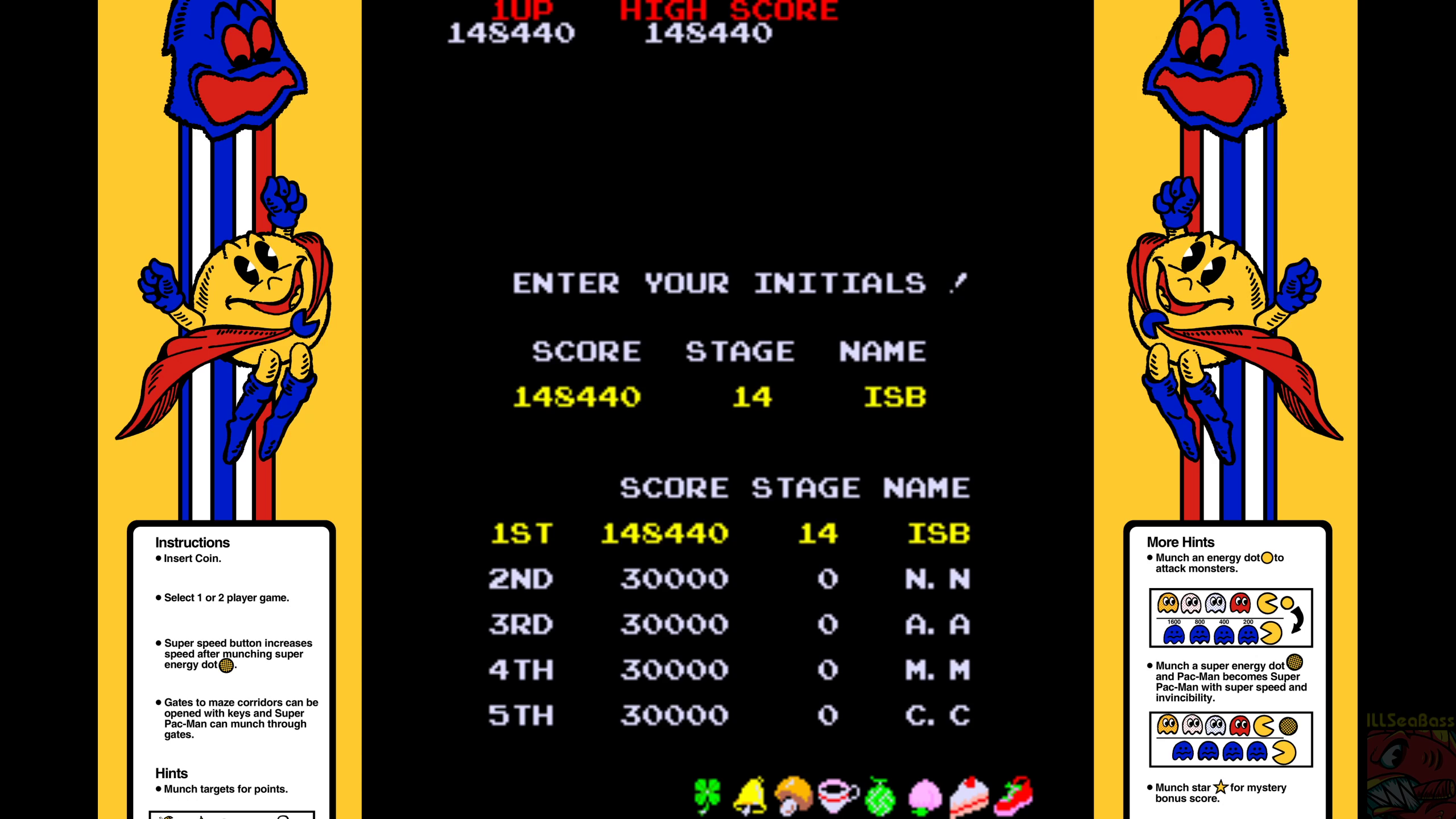 Super Pac-Man 148,440 points