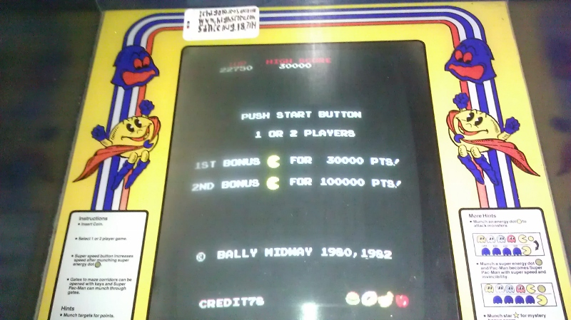 Super Pac-Man 22,750 points