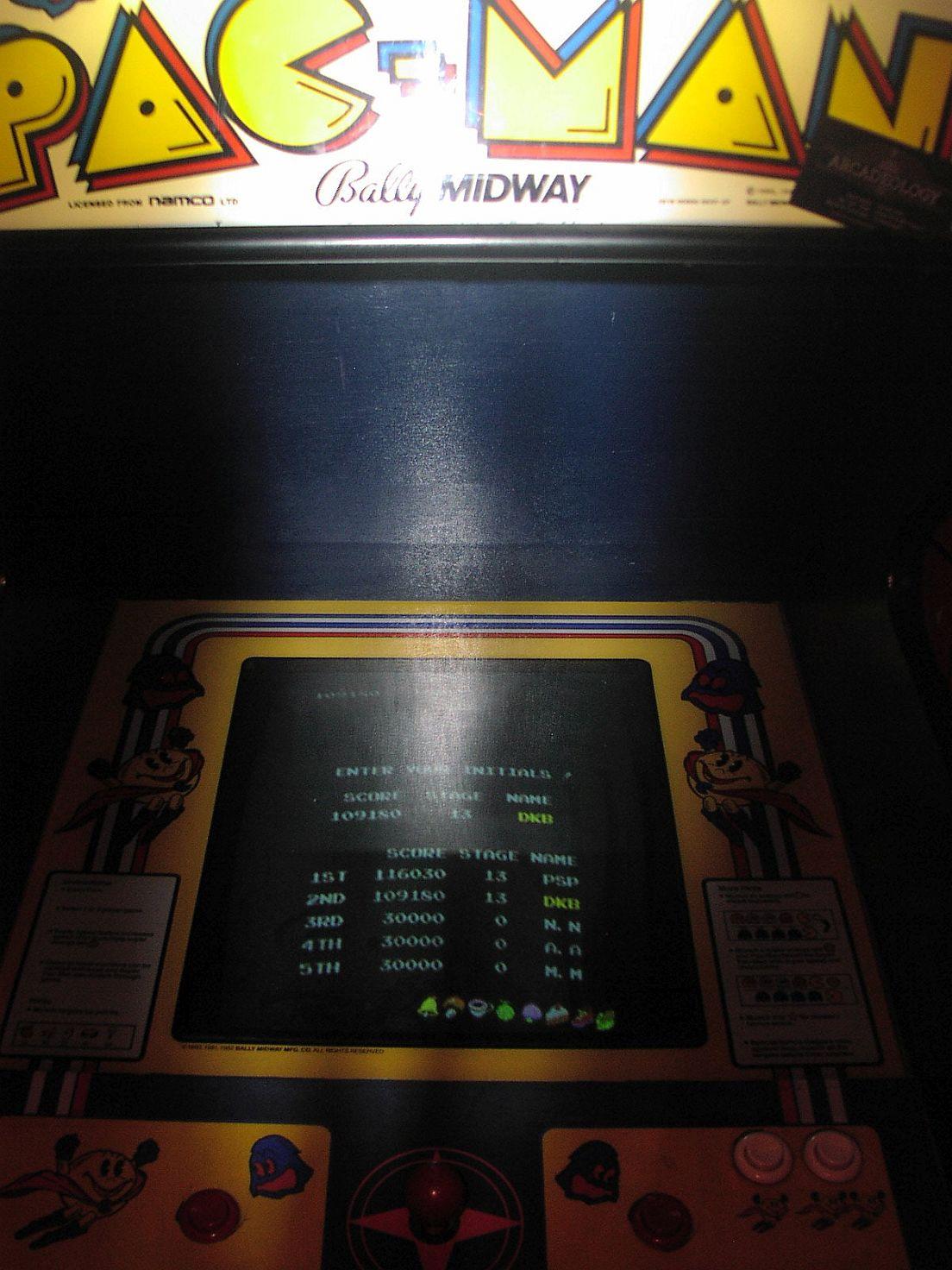 Super Pac-Man 109,180 points