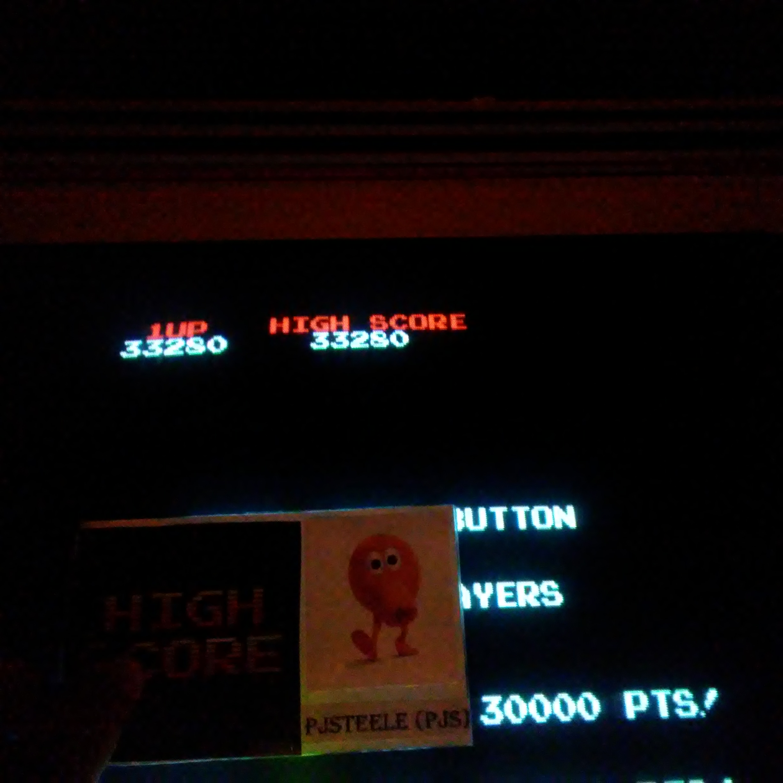 Pjsteele: Super Pac-Man (Arcade) 33,280 points on 2017-12-31 18:54:35