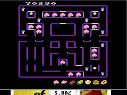 S.BAZ: Super Pac-Man (Atari 7800 Emulated) 70,390 points on 2016-03-26 01:50:18