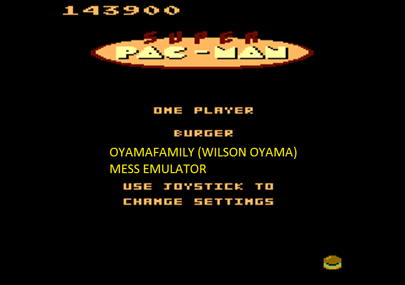 oyamafamily: Super Pac-Man: Burger Start (Atari 7800 Emulated) 143,900 points on 2016-02-28 19:50:42