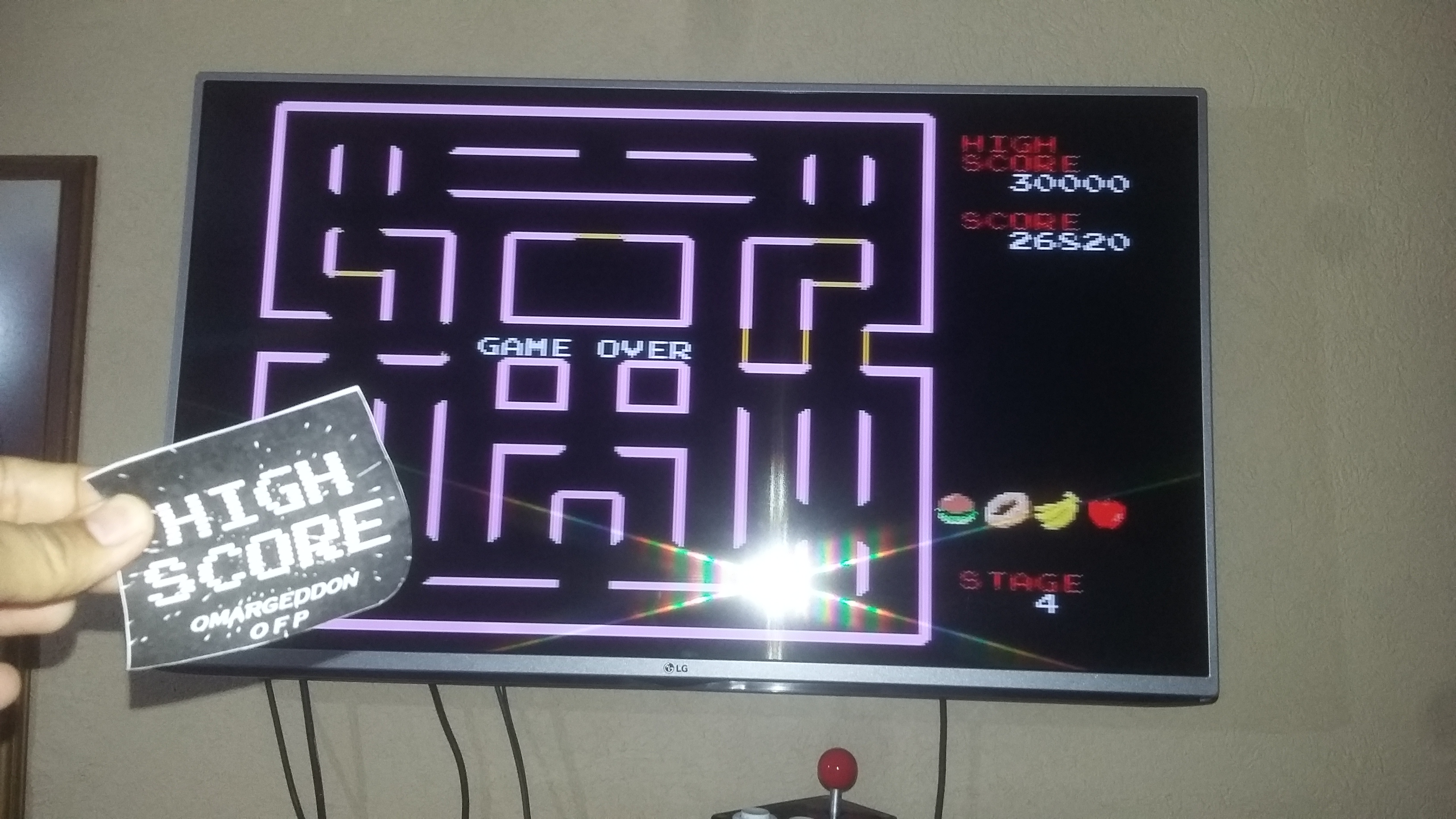 Super Pac-Man 26,820 points