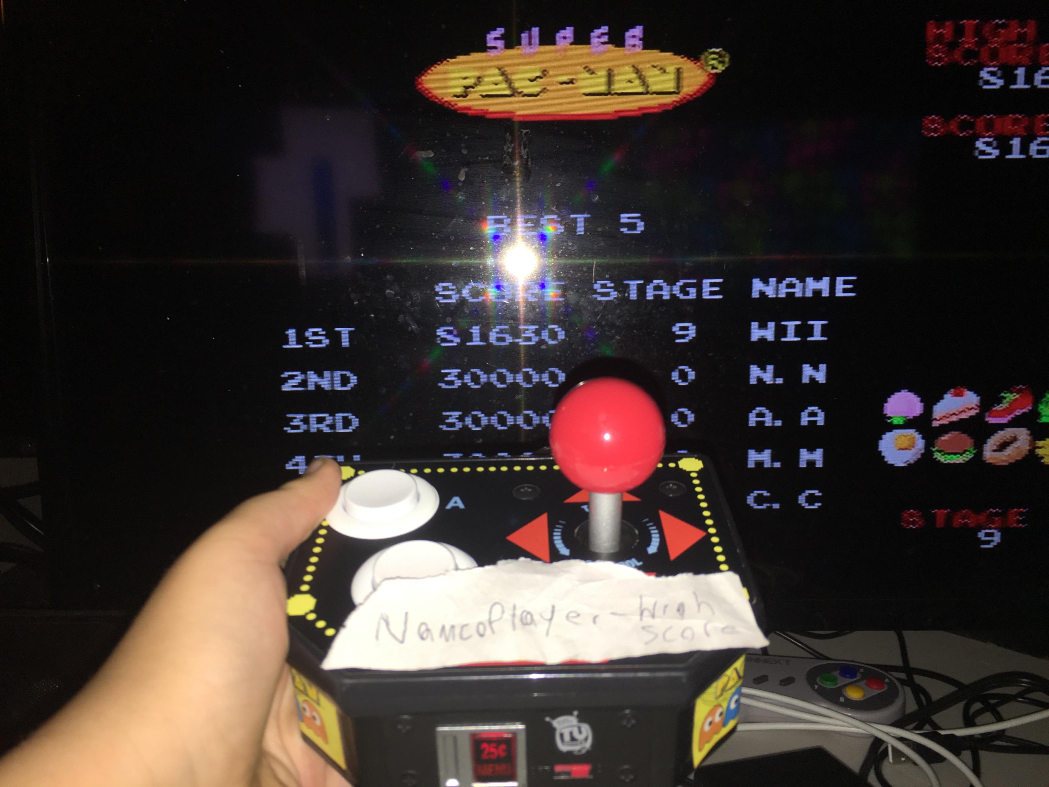 NamcoPlayer: Super Pac-Man (Jakks Pacific Retro Arcade Pac-Man) 81,630 points on 2020-08-25 08:36:32