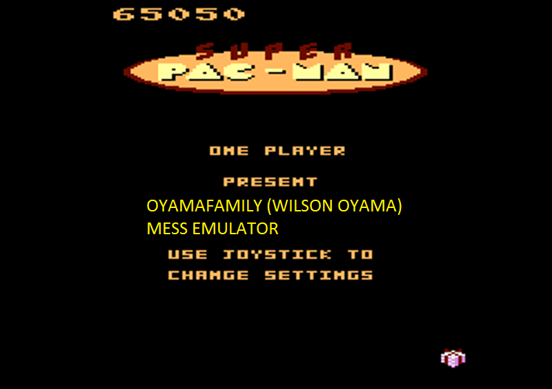 oyamafamily: Super Pac-Man: Present Start (Atari 7800 Emulated) 65,050 points on 2016-02-28 19:50:59