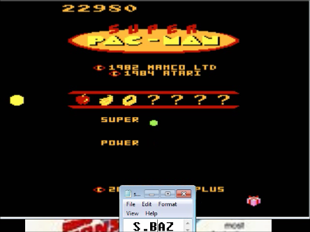 S.BAZ: Super Pac-Man: Present Start (Atari 7800 Emulated) 22,980 points on 2016-03-26 00:54:13