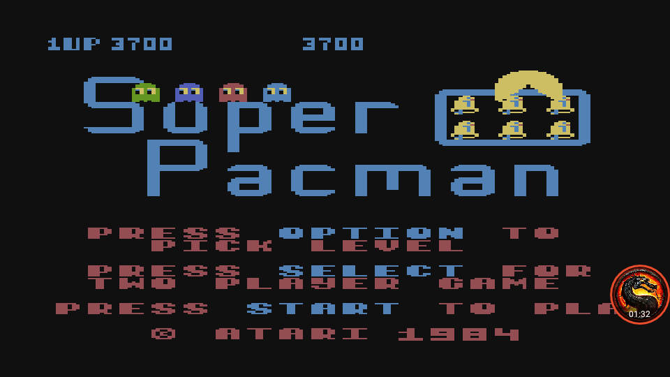 omargeddon: Super Pacman [Bell Start] (Atari 400/800/XL/XE Emulated) 3,700 points on 2020-05-27 02:30:17