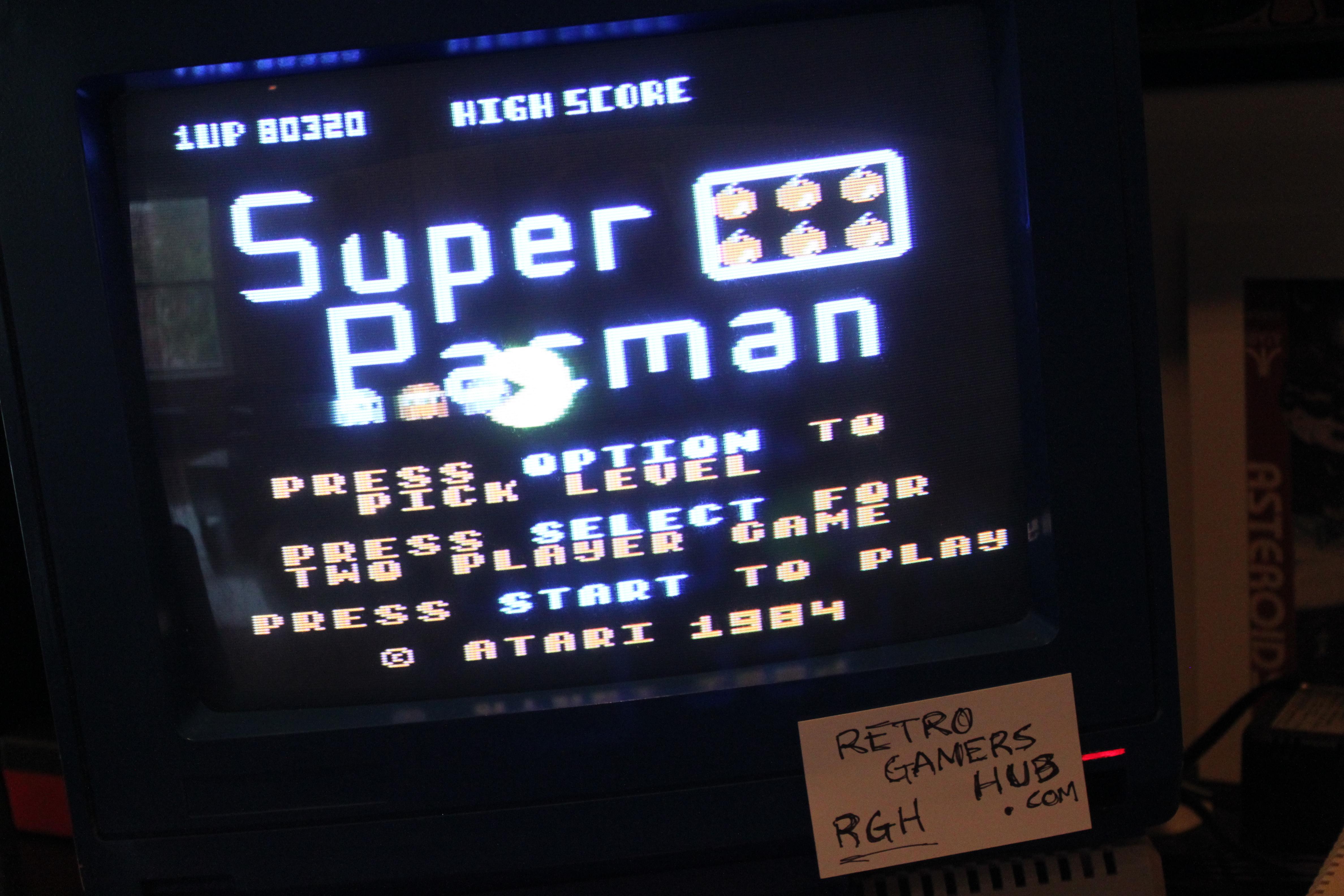 RetroGamersHub: Super Pacman [Default settings] (Atari 400/800/XL/XE) 80,320 points on 2016-10-02 07:44:43