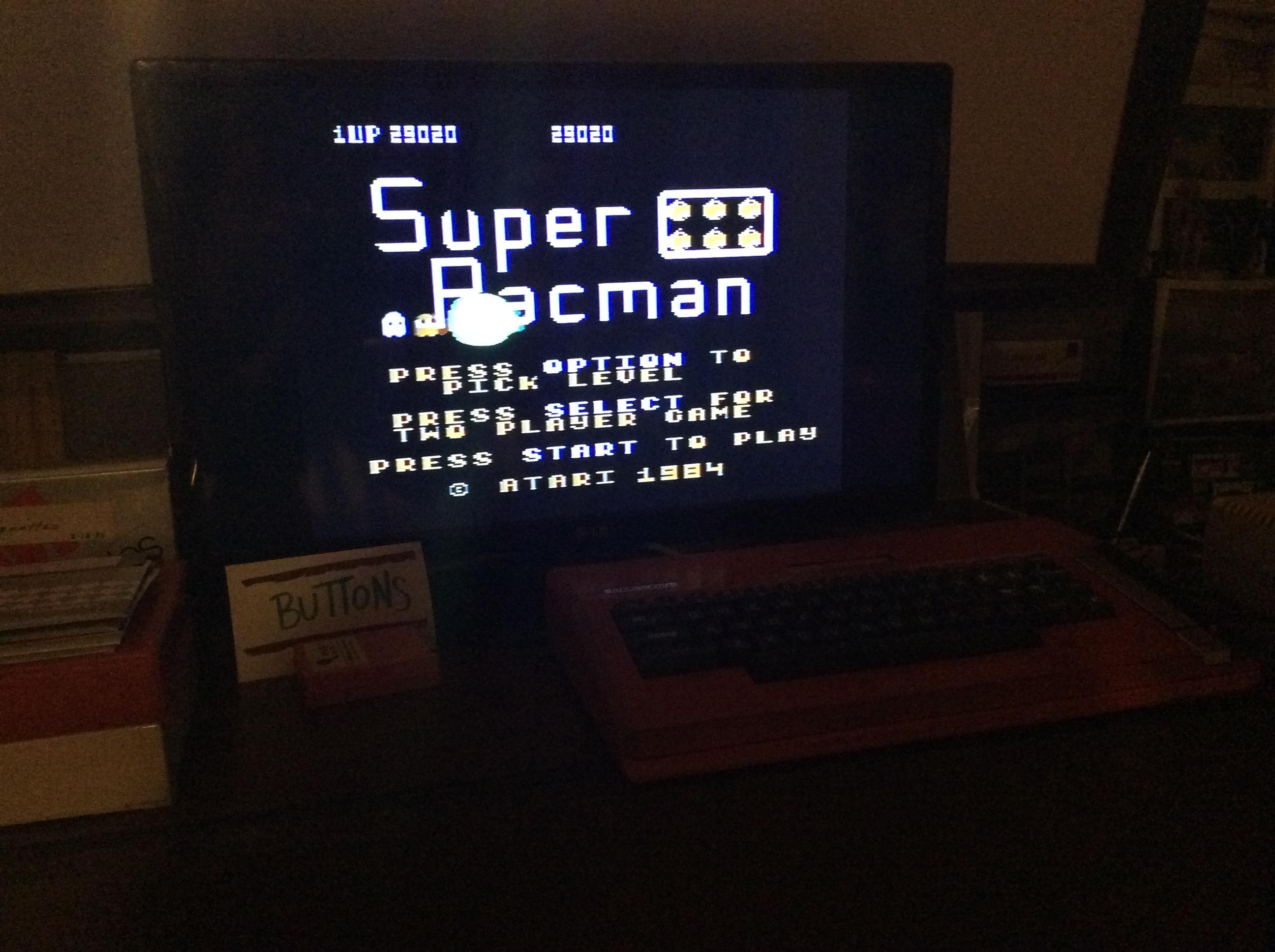 Super Pacman [Default settings] 29,020 points