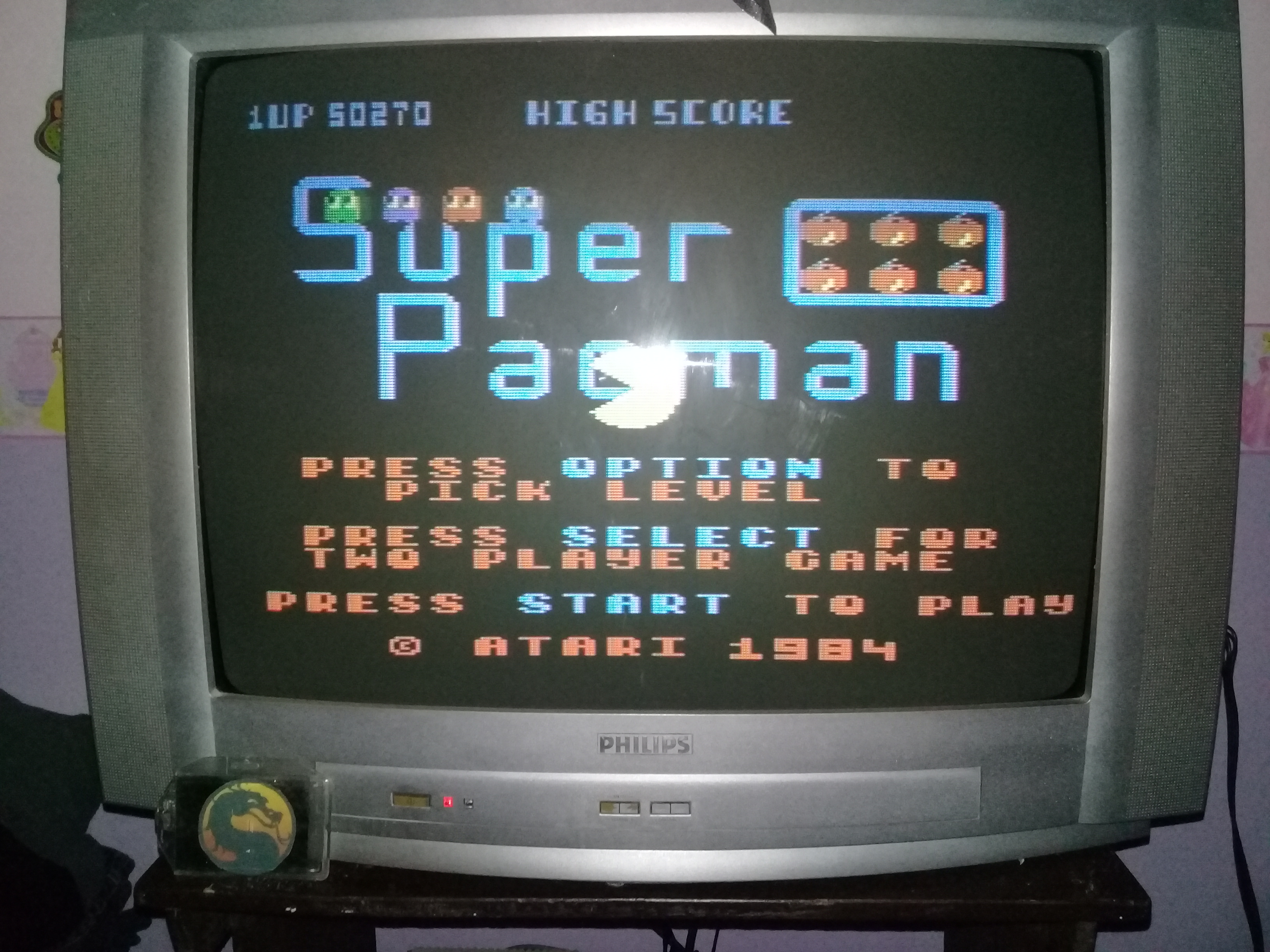 omargeddon: Super Pacman [Default settings] (Atari 400/800/XL/XE) 50,270 points on 2020-03-15 19:16:23