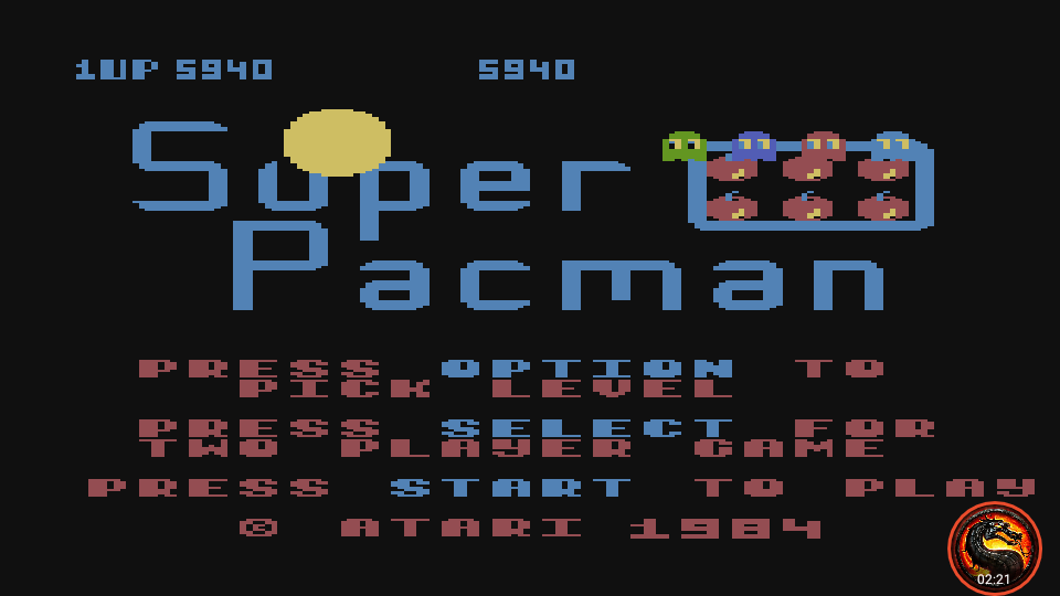 omargeddon: Super Pacman [Default settings] (Atari 400/800/XL/XE Emulated) 5,940 points on 2020-05-27 02:35:13