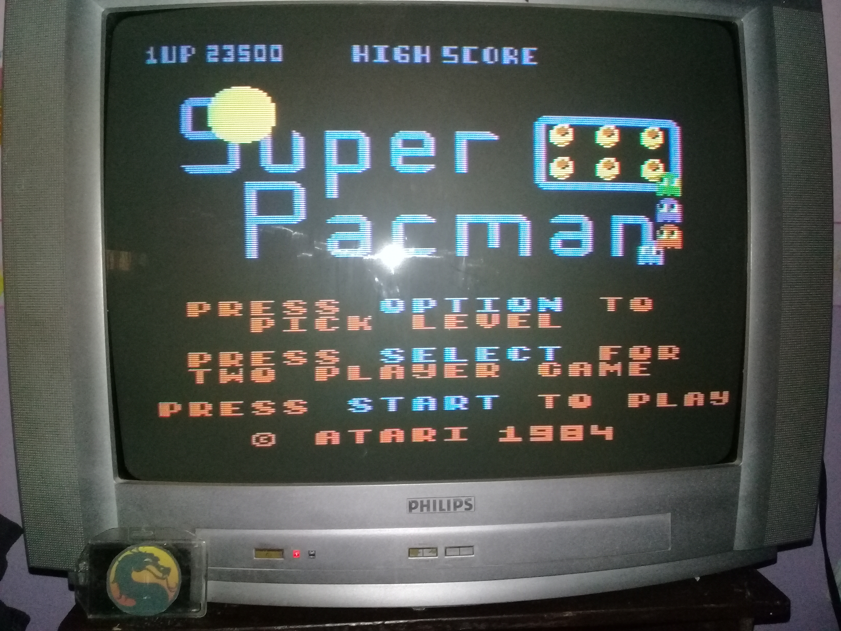 omargeddon: Super Pacman [Egg Start] (Atari 400/800/XL/XE) 23,500 points on 2020-03-15 19:05:46