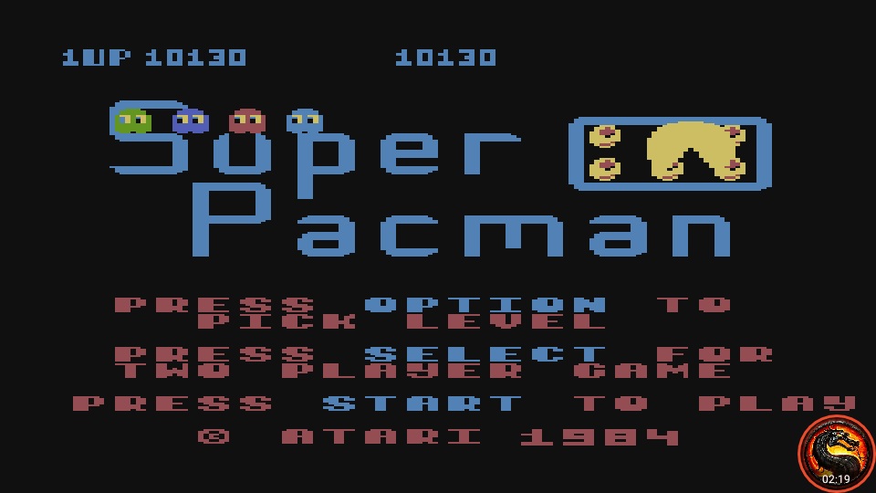 omargeddon: Super Pacman [Egg Start] (Atari 400/800/XL/XE Emulated) 10,130 points on 2020-05-27 02:33:19