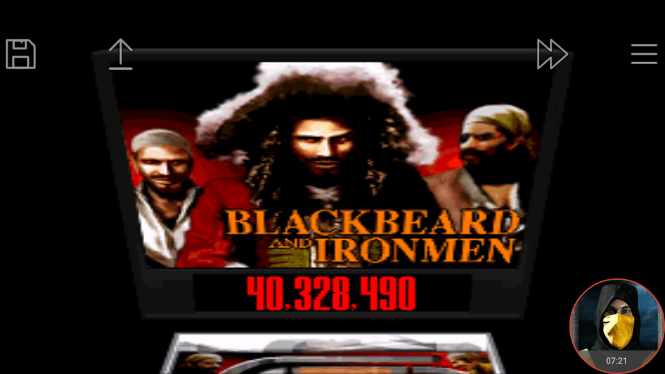 omargeddon: Super Pinball: Behind The Mask : Black Beard And Ironmen (SNES/Super Famicom Emulated) 40,328,490 points on 2018-01-16 22:09:50