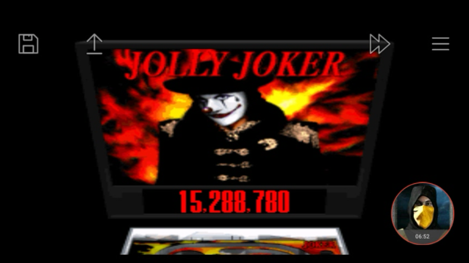 omargeddon: Super Pinball: Behind The Mask: Jolly Joker (SNES/Super Famicom Emulated) 15,288,780 points on 2018-01-16 23:25:16