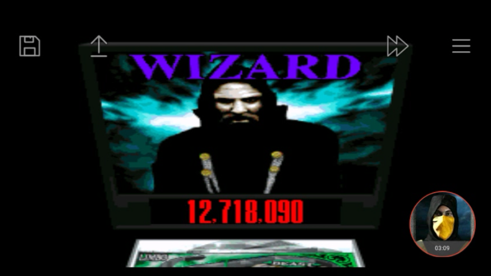 omargeddon: Super Pinball: Behind The Mask: Wizard (SNES/Super Famicom Emulated) 12,718,090 points on 2018-01-17 00:42:38