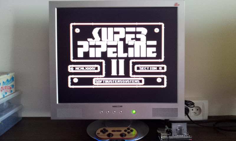 Larquey: Super Pipeline 2 (Commodore 64 Emulated) 86,555 points on 2017-08-30 08:02:38