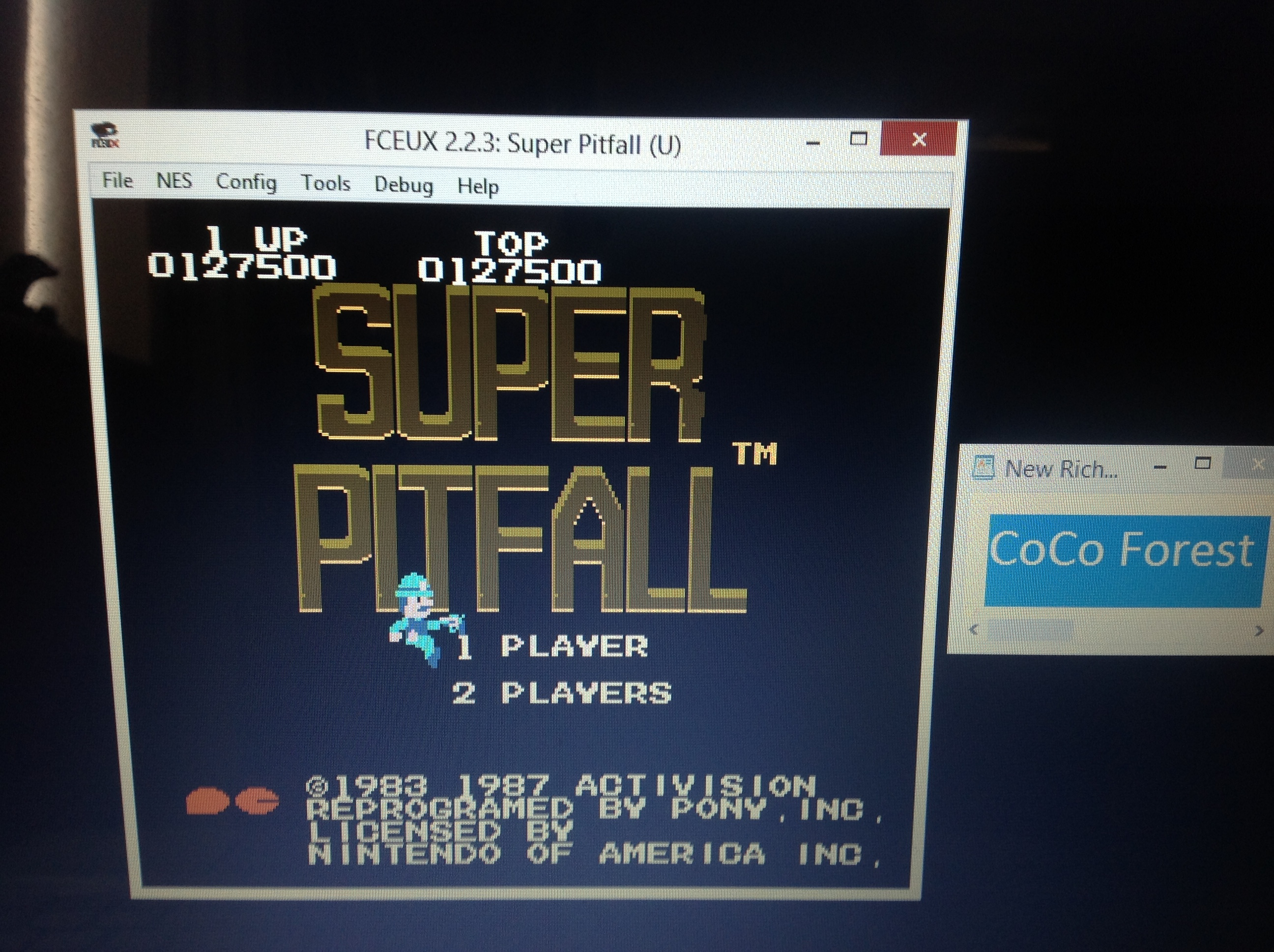 CoCoForest: Super Pitfall (NES/Famicom Emulated) 127,500 points on 2018-10-07 05:47:57