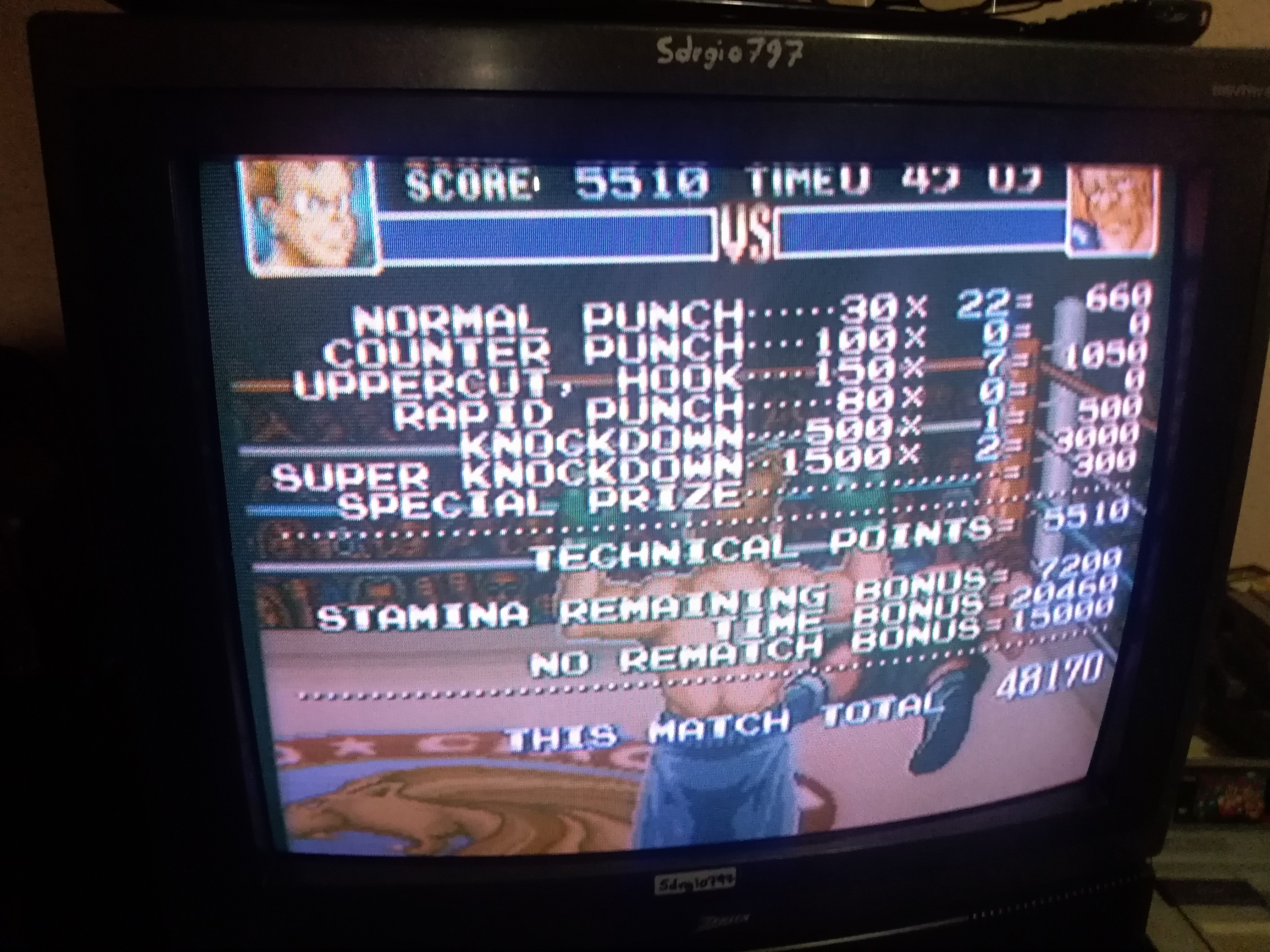 Super Punch-Out!! [Aran Ryan] 48,170 points