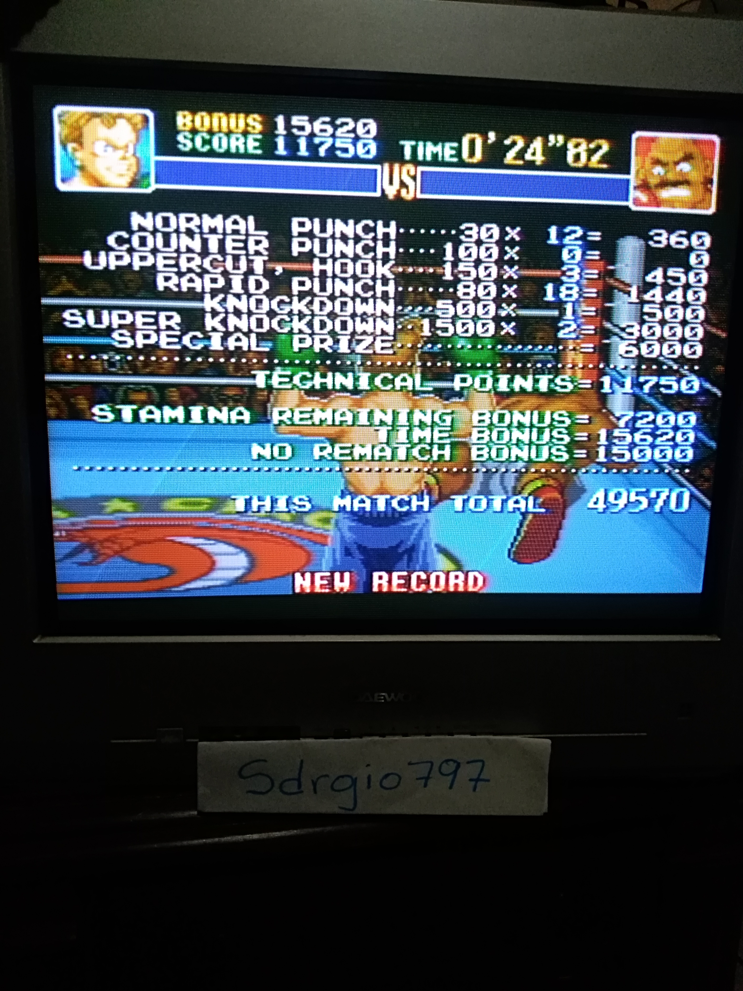 Sdrgio797: Super Punch-Out!! [Bald Bull] (SNES/Super Famicom) 49,570 points on 2020-07-24 01:59:08
