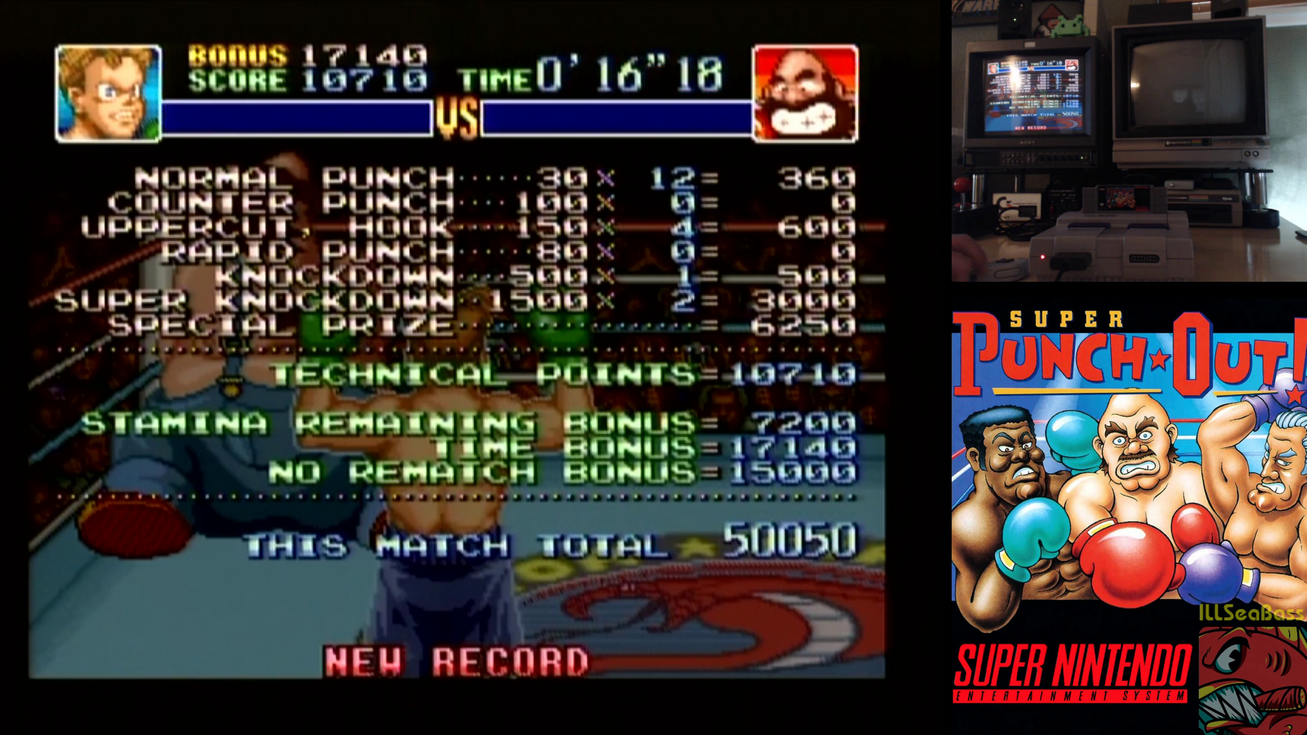ILLSeaBass: Super Punch-Out!! [Bear Hugger] (SNES/Super Famicom) 50,050 points on 2018-11-17 11:35:14