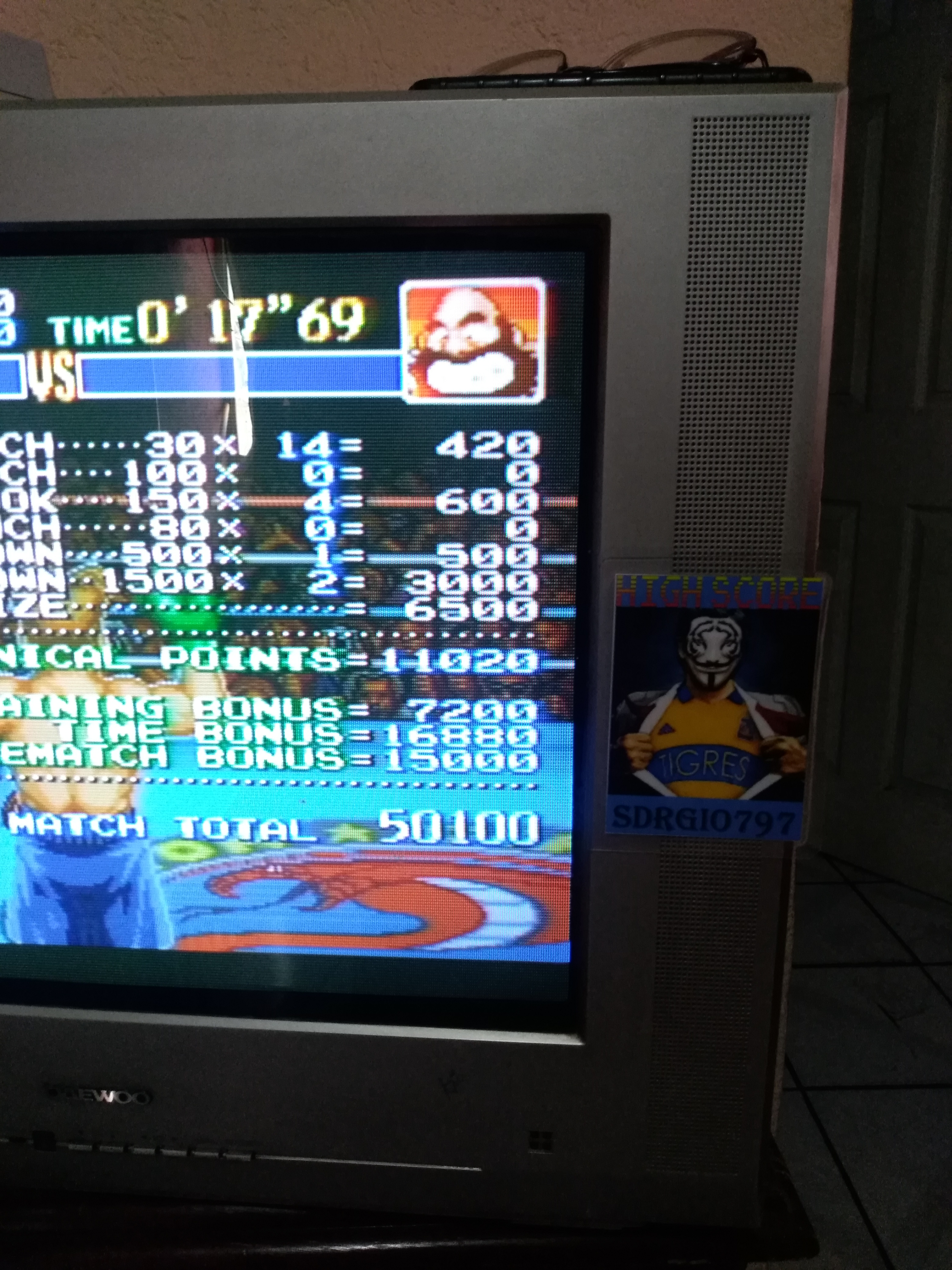 Sdrgio797: Super Punch-Out!! [Bear Hugger] (SNES/Super Famicom) 50,100 points on 2020-07-25 15:11:42