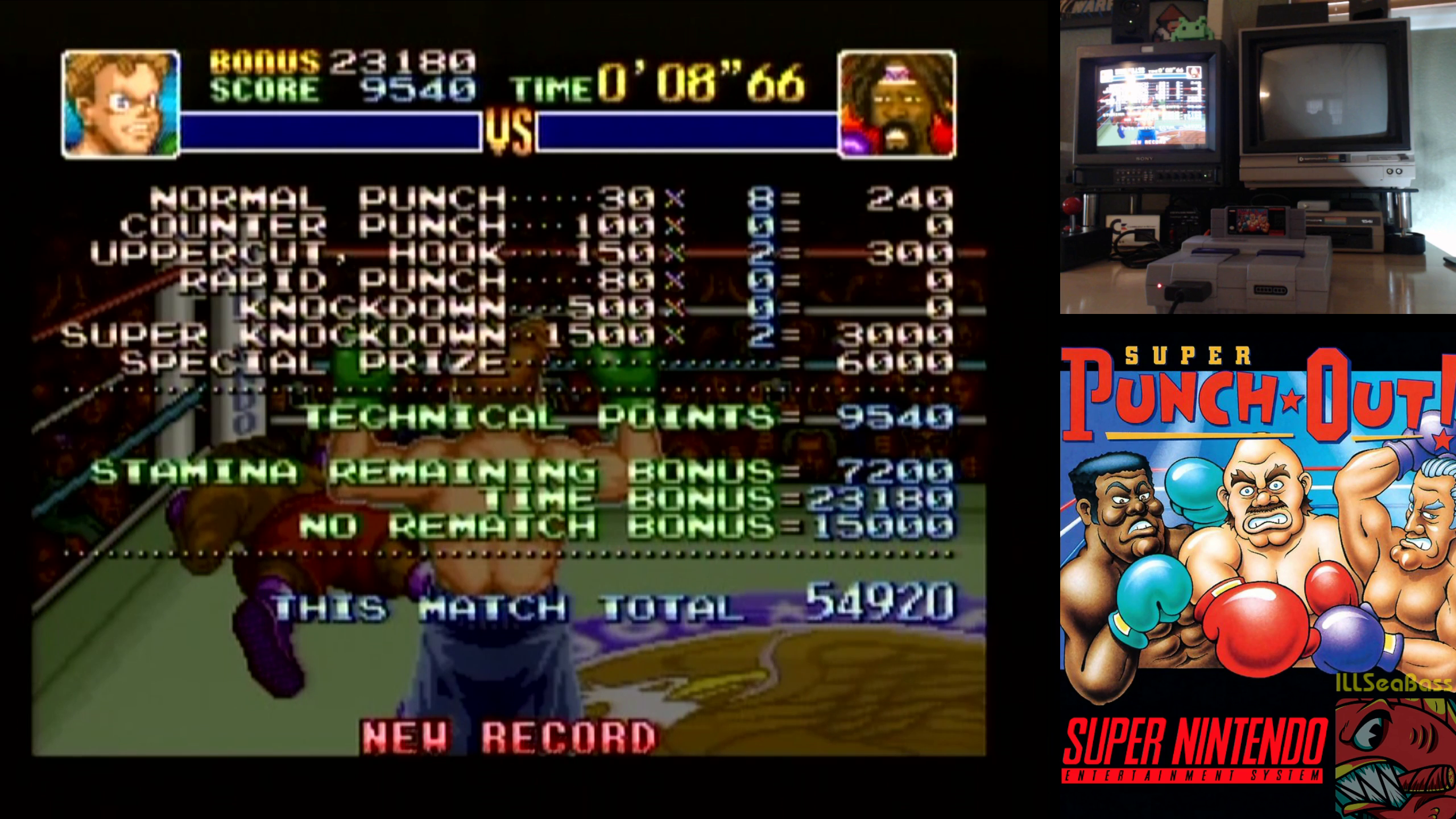 ILLSeaBass: Super Punch-Out!! [Bob Charlie] (SNES/Super Famicom) 54,920 points on 2018-11-17 12:38:37