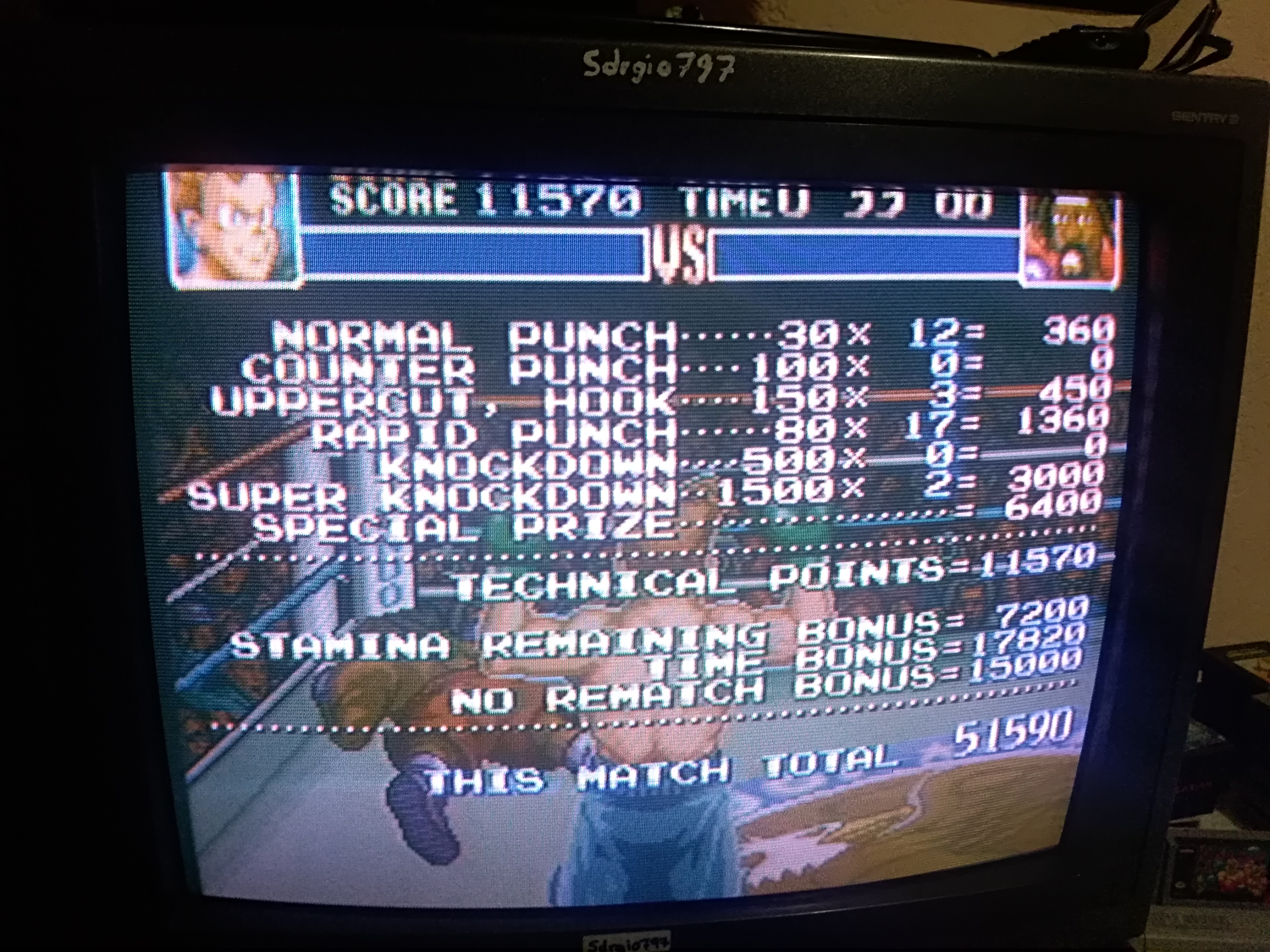 Super Punch-Out!! [Bob Charlie] 51,590 points