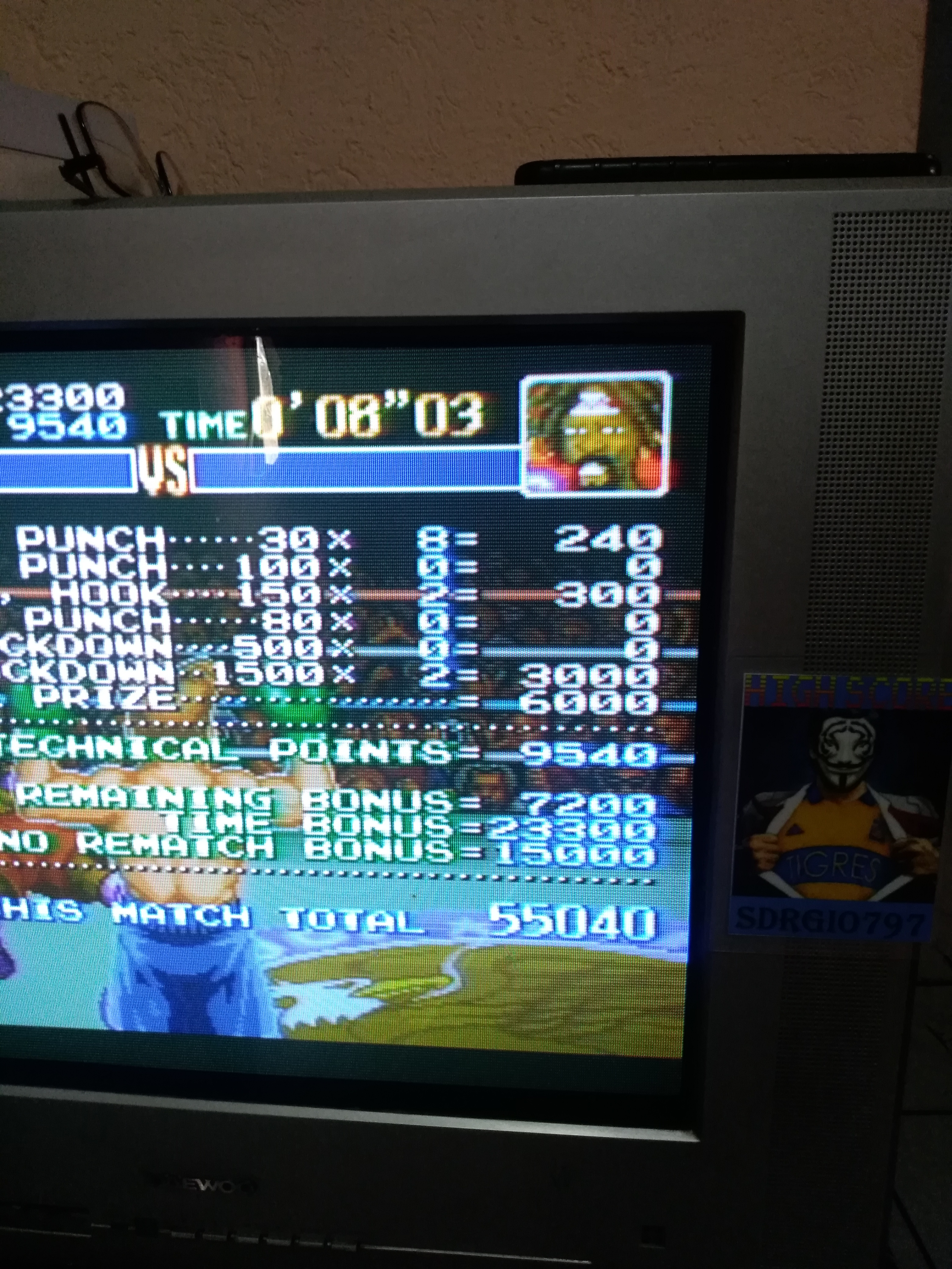 Sdrgio797: Super Punch-Out!! [Bob Charlie] (SNES/Super Famicom) 55,040 points on 2020-07-25 12:44:34