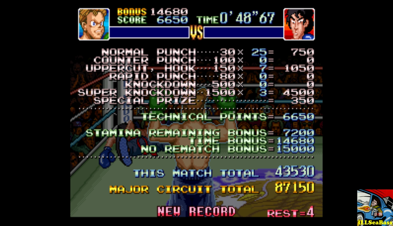 Super Punch-Out!! [Dragon Chan] 43,530 points