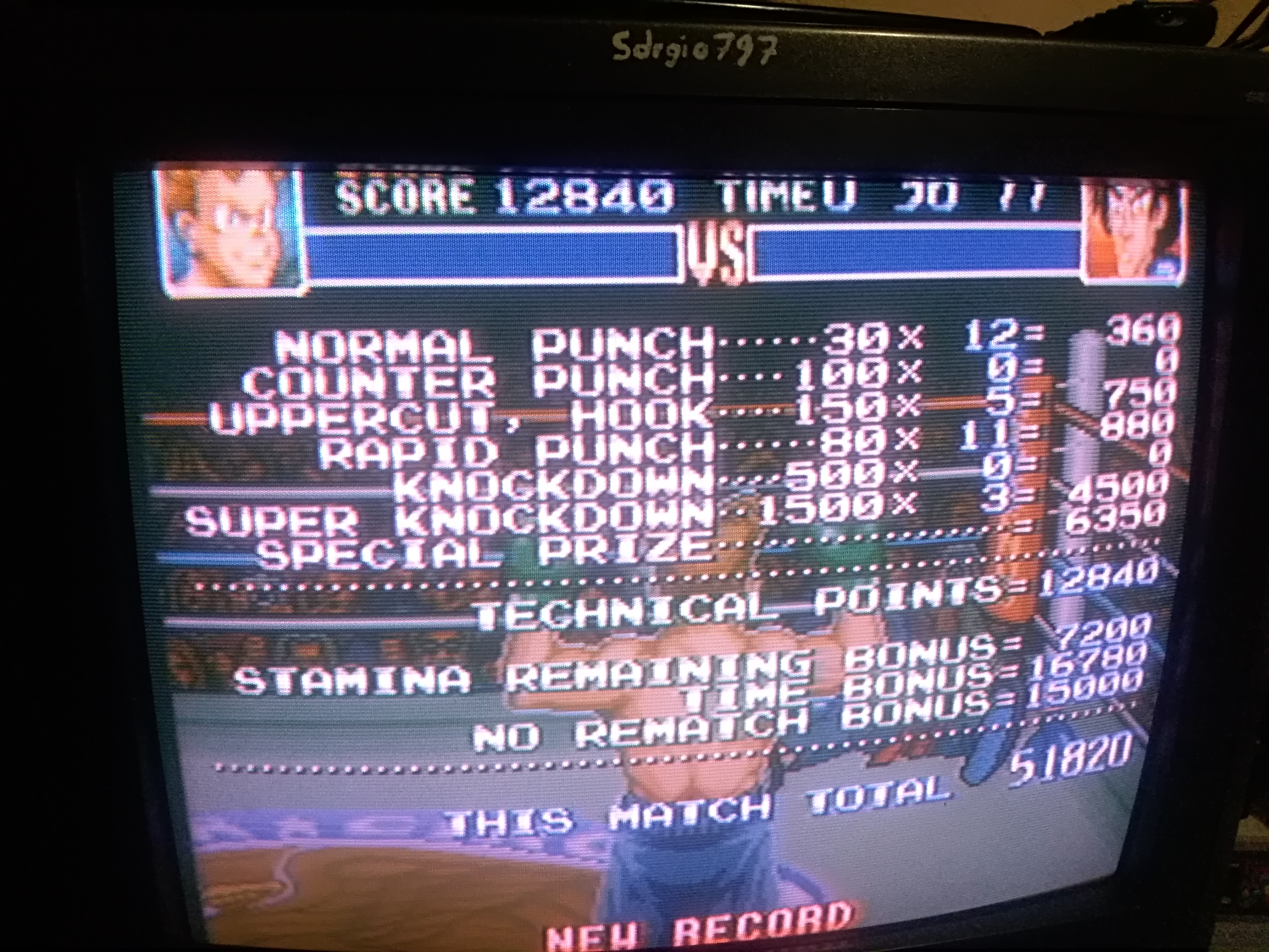 Super Punch-Out!! [Dragon Chan] 51,820 points
