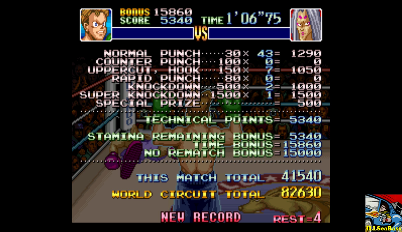 Super Punch-Out!! [Heike Kagero] 41,540 points