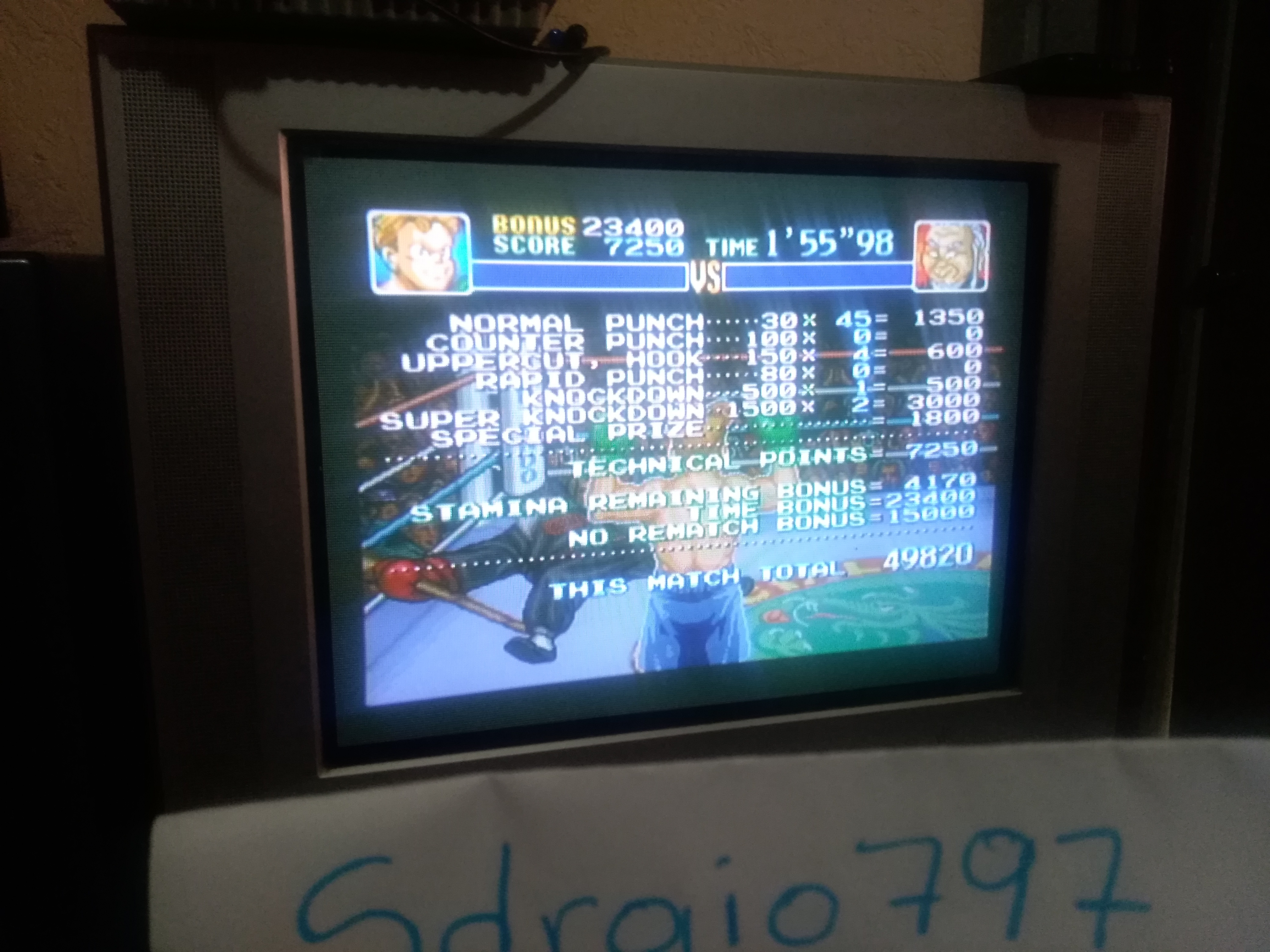 Sdrgio797: Super Punch-Out!! [Hoy Quarlow] (SNES/Super Famicom Emulated) 49,820 points on 2020-07-16 16:43:08