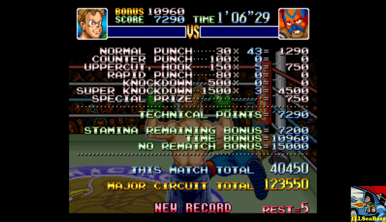 ILLSeaBass: Super Punch-Out!! [Masked Muscle] (SNES/Super Famicom Emulated) 40,450 points on 2016-12-12 20:21:33