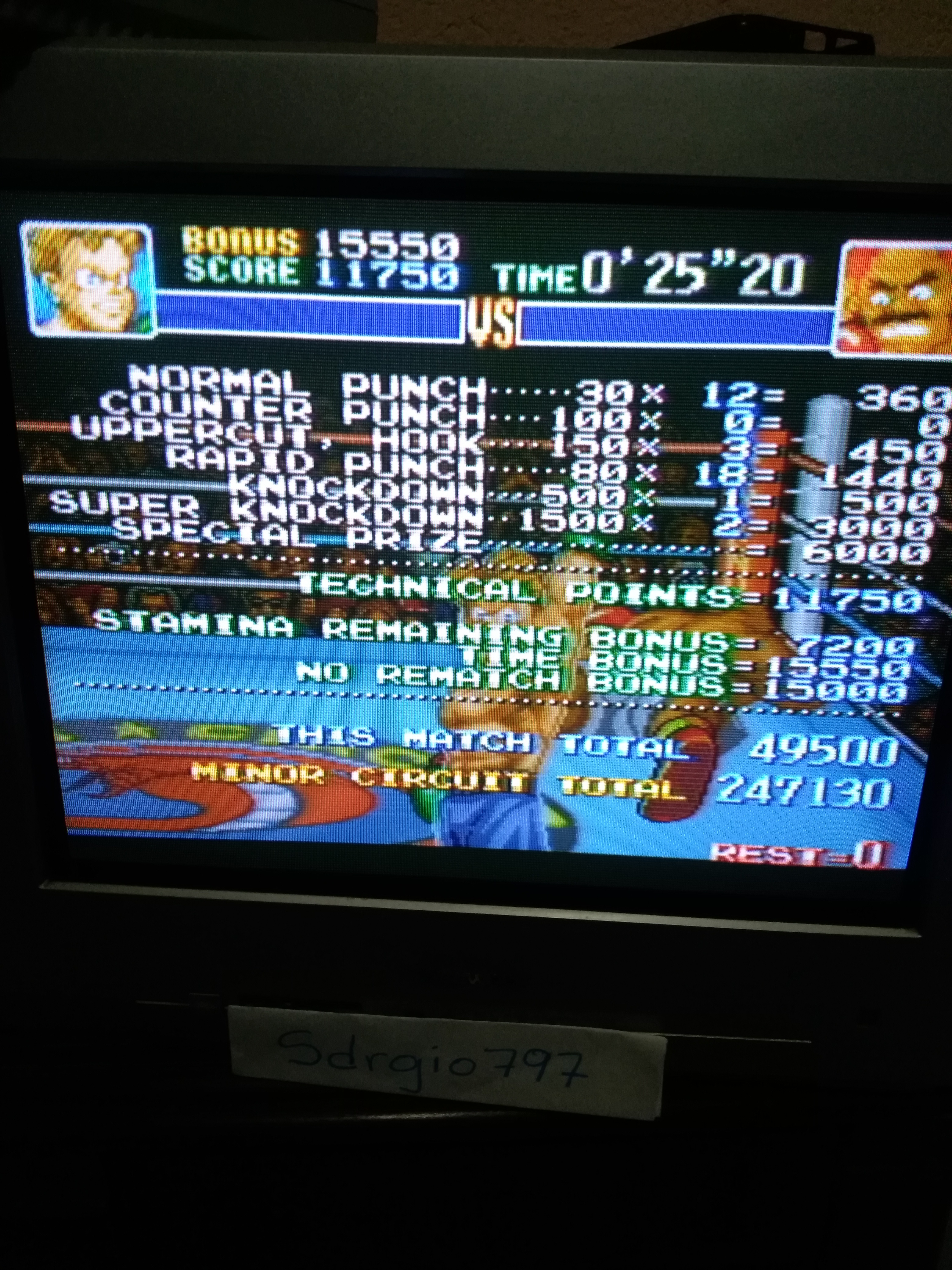 Sdrgio797: Super Punch-Out!! [Minor Circuit] (SNES/Super Famicom) 247,130 points on 2020-07-24 03:30:04