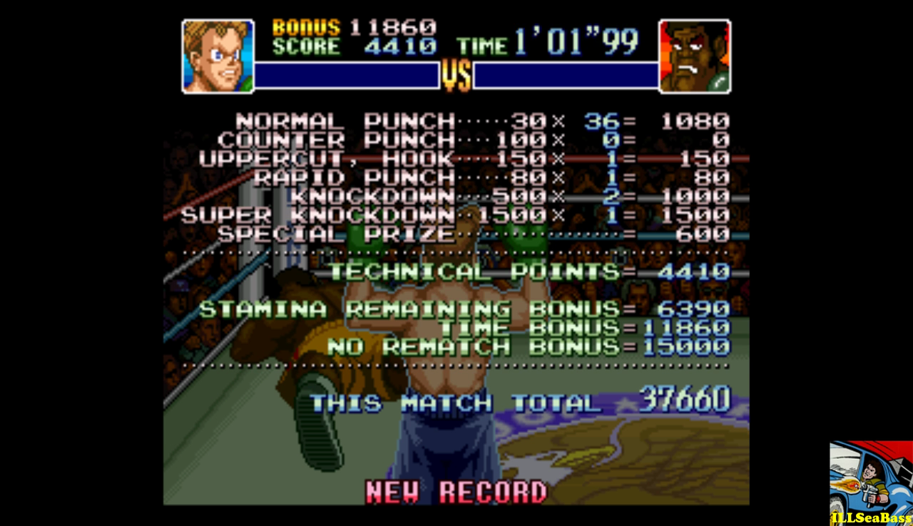 Super Punch-Out!! [Mr. Sandman] 37,660 points